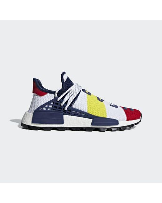 990edd9ce Adidas - White Pharrell Williams Bbc Hu Nmd Shoes for Men - Lyst