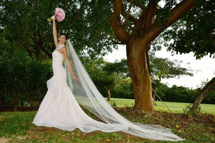 Miss Universe Dayana Mendoza during her wedding