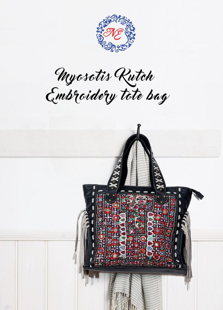 This leather and hand embroidered bag with mirror work can dress up any outfit  To Enquire whatsapp: +91 8390367688  #nostalgiaenterprises #leather #embroidered #handbag #mirrorwork