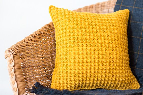 Mustard Yellow Pillow Cover