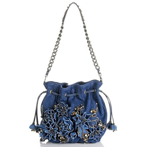 "mary frances handbags | Image for Mary Frances ""Down N' Denim"" Beaded Handbag"