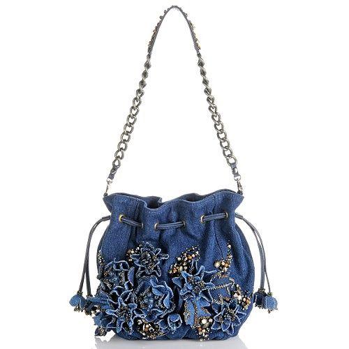 "mary frances handbags | Image for Mary Frances ""Down N' Denim"" Beaded Handbag"