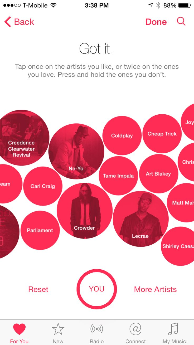 iOS Apple Music artists