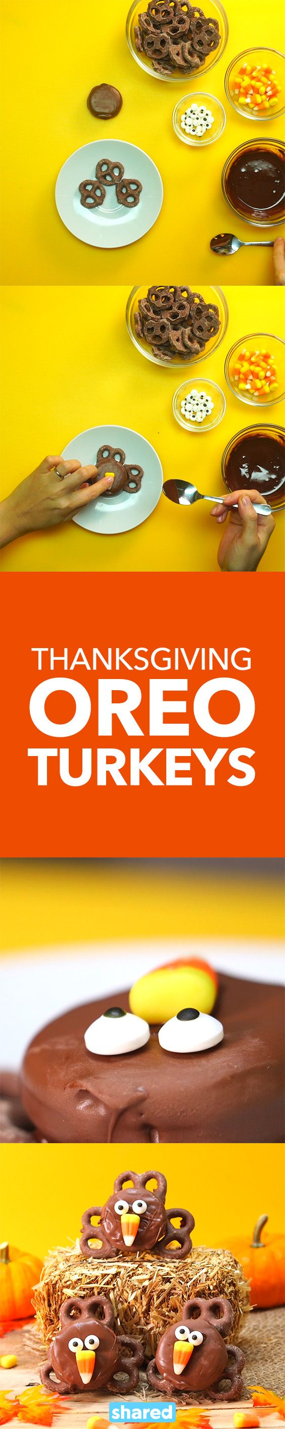 Thanksgiving Oreo Turkeys