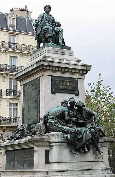 "PARIS, FRANCE   l   Alexandre Dumas wrote ""The Count of Monte Cristo"" and ""The Three Musketeers."" His statue garners a place of honor in the Plaza de Malesherbes, Paris."