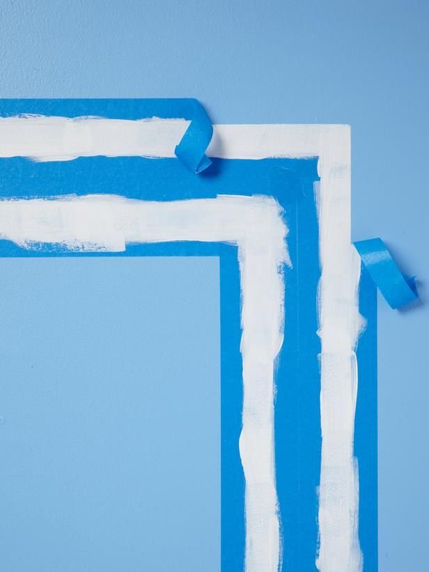 Faux-molding with white paint and painter's tape #hgtvmagazine