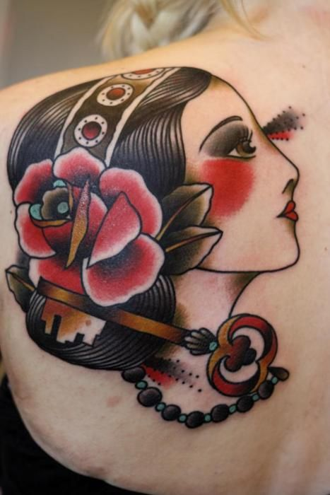 Lady Tattoo on back