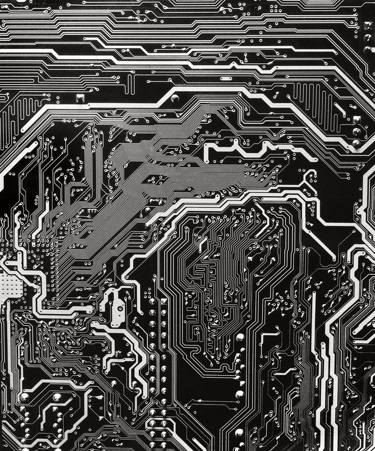 Circuit Board Detail - photograph by Will Wilson