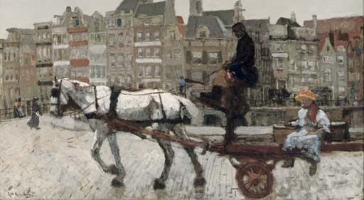 Cityscape Painting by Dutch Artist George Hendrik Breitner