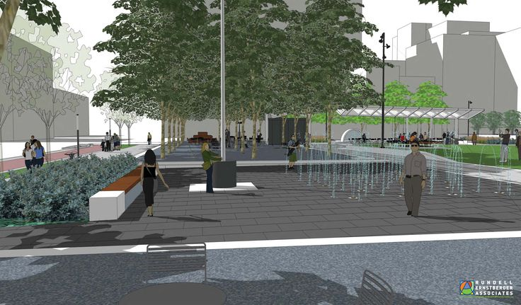 Interactive Water Feature | City-County Building Plaza | Indianapolis, Indiana | designer: Rundell Ernstberger Associates