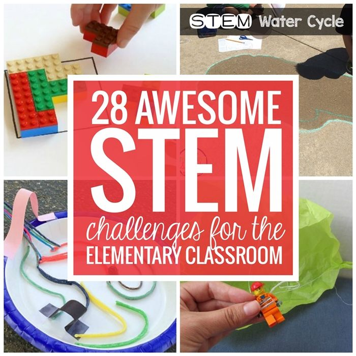 28 Awesome STEM Challenges for the Elementary Classroom - These are easy to setp up