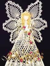 This pineapple angel pattern is available on Annie's epatternscentral.com for $1.99. This angel is 19 1/2 inches tall. I will be making this for my sister-in-law.