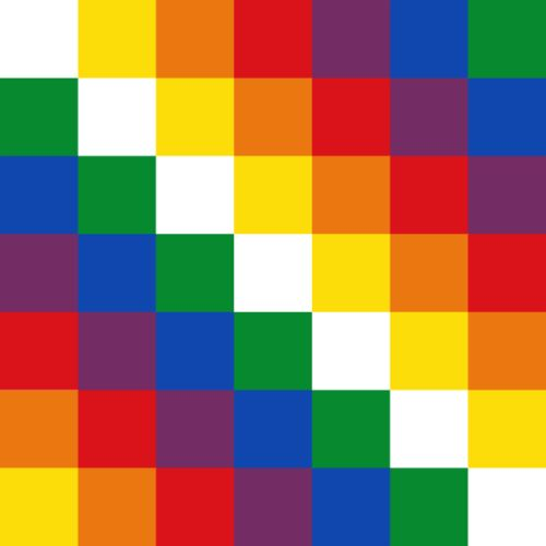 Wiphala of Qulla Suyu, co-official flag of Bolivia since 2009, via. Thanks to Leonard Paul for the tip.