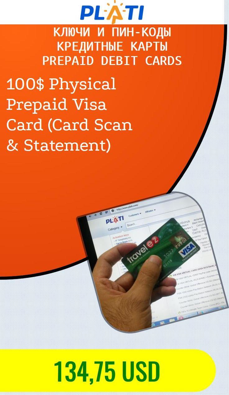 100$ Physical Prepaid Visa Card (Card Scan