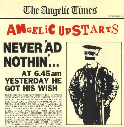 "For Sale - Angelic Upstarts Never 'ad Nothin' UK  7"" vinyl single (7 inch record) - See this and 250,000 other rare & vintage vinyl records, singles, LPs & CDs at http://eil.com"