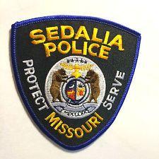 UNUSED MISSOURI POLICE PATCHES SEDALIA POLICE DEPT