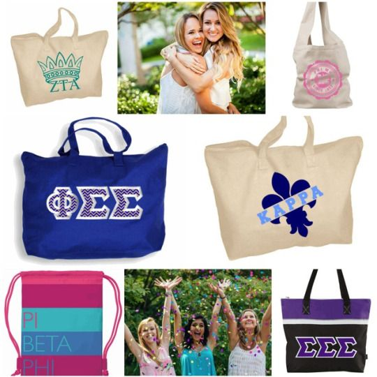 GOTTA HAVE IT: Super Cute Sorority TOTES! Greek Gear is your SINGLE BUY SUPERSTORE! Find dozens of sorority totes, bags and fanny packs to buy individually. These are some of my FAVE designs for summer beach bags and travel totes! XOXO  http://www.greekgear.com