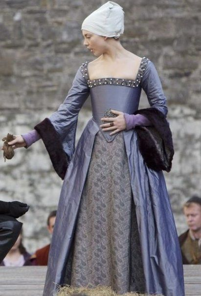 Natalie Dormer as Anne Boleyn in The Tudors. Her reenactment of Anne's execution speech is the best I've seen.