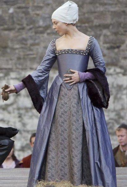 Natalie Dormer as Anne Boleyn in The Tudors. Her reenactment of Anne's execution speech is the best I've seen.