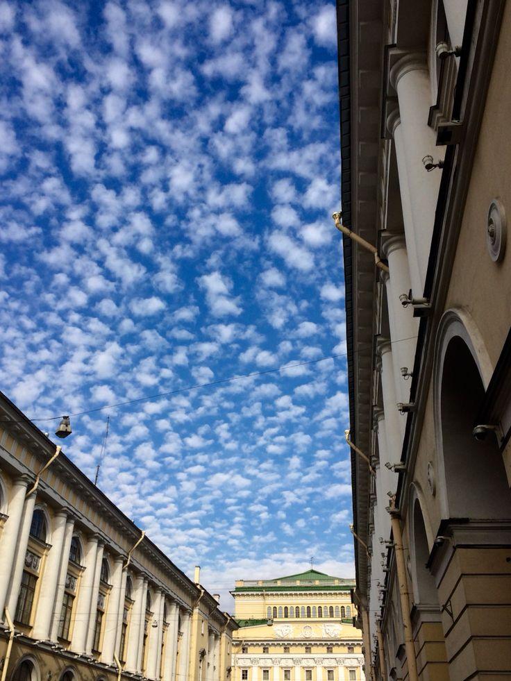 SaintPetersburg Russia  СанктПетербург Россия  вид на Александрийский театр