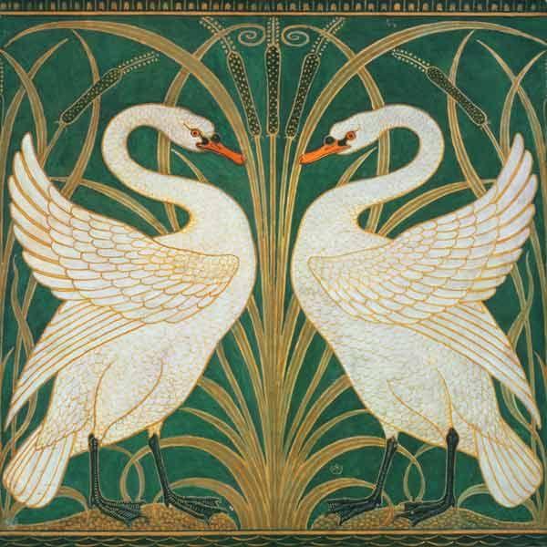 Walter Crane, Swan-Rush-Iris