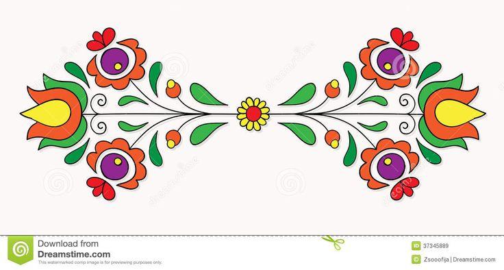 Hungarian Folk Motif Royalty Free Stock Images - Image: 37345889
