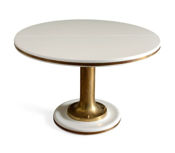 Beautiful design.  The Yacht Table - sold by Dering Hall.  Made by Soane.  http://www.soane.co.uk/product/tables/the-circular-yacht-table
