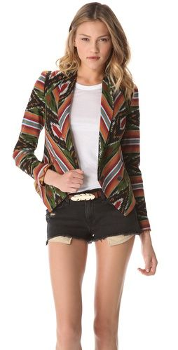 love the leaf belt and the shorts...maybe not the (ikat) blazer. different pattern i'd like