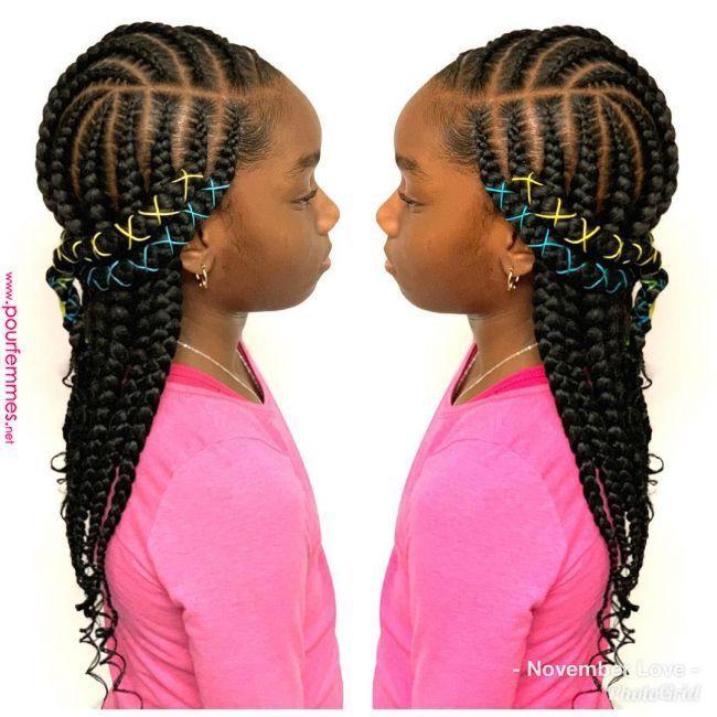 Tresses De Grande Couche Cornrowhairstyles Braidscrea Origami Pour Enfants Tresses Et Perles Tresse Box Braids Hairstyles