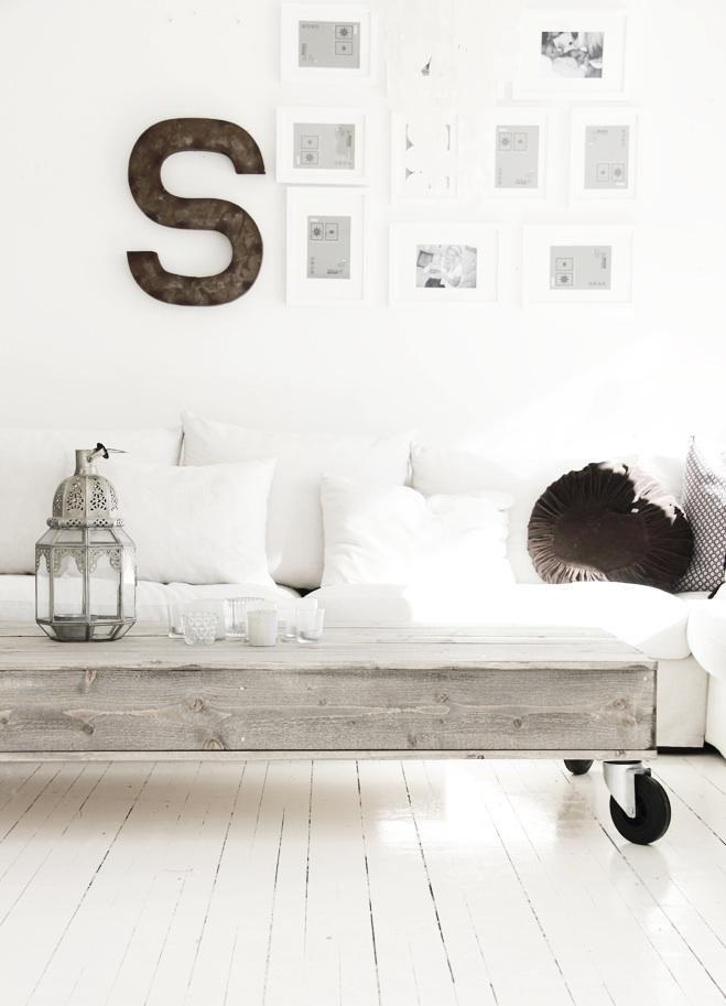 Rolling Pallet Coffee Table - via Kjerstis Lykke