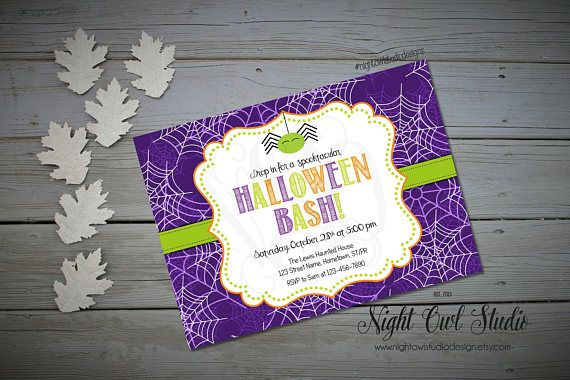 Hey, I found this really awesome Etsy listing at https://www.etsy.com/ca/listing/203220492/halloween-invitation-kids-halloween