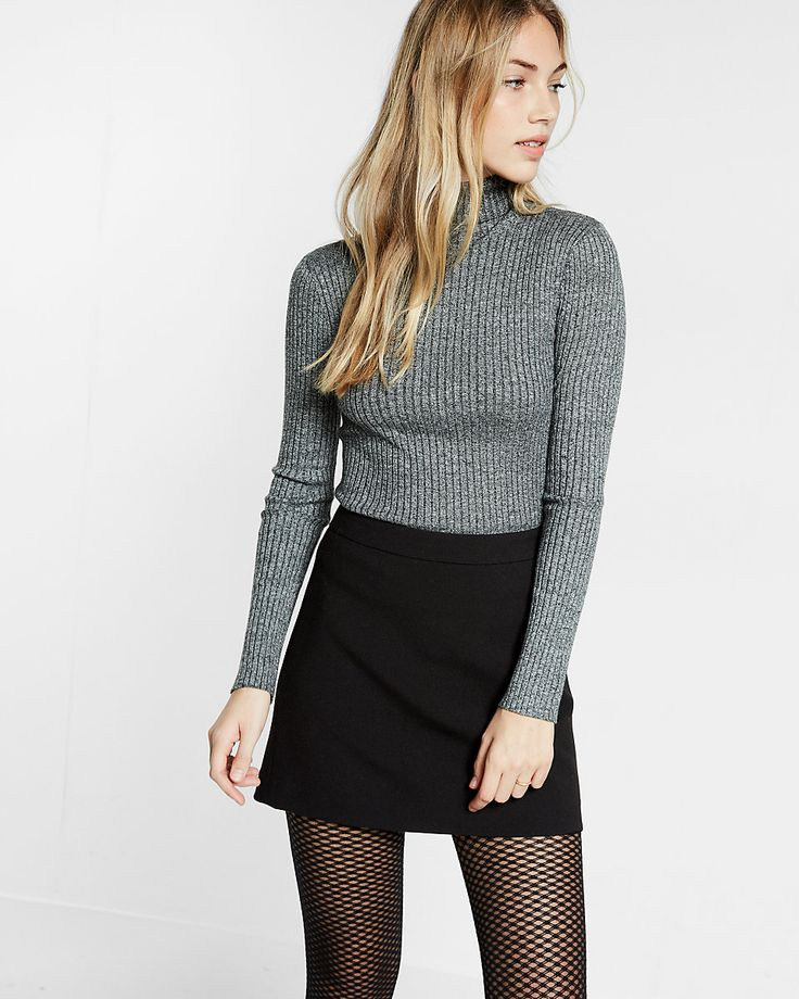 a-line mini skirt black express
