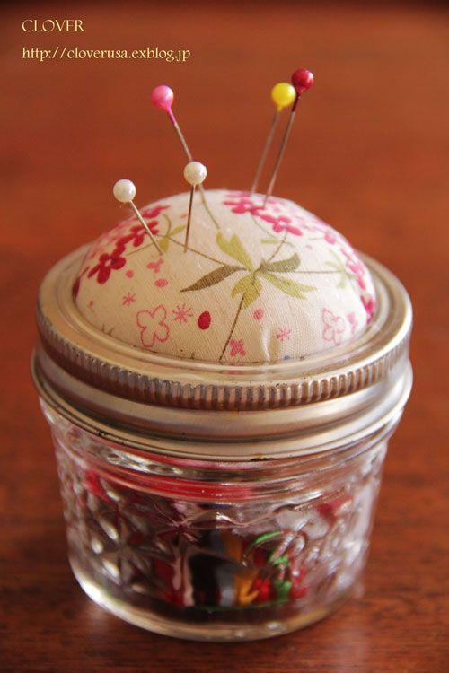 保存瓶のピンクッションの作り方|ソーイング|編み物・手芸・ソーイング|作品カテゴリ|アトリエ