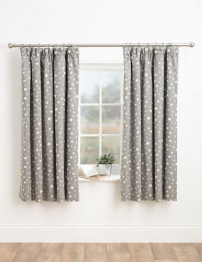 Star Print Pencil Pleat Curtains | M&S