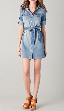 Tory Burch cute chambray dress:)