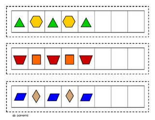 pattern block patterning cards - free printable.