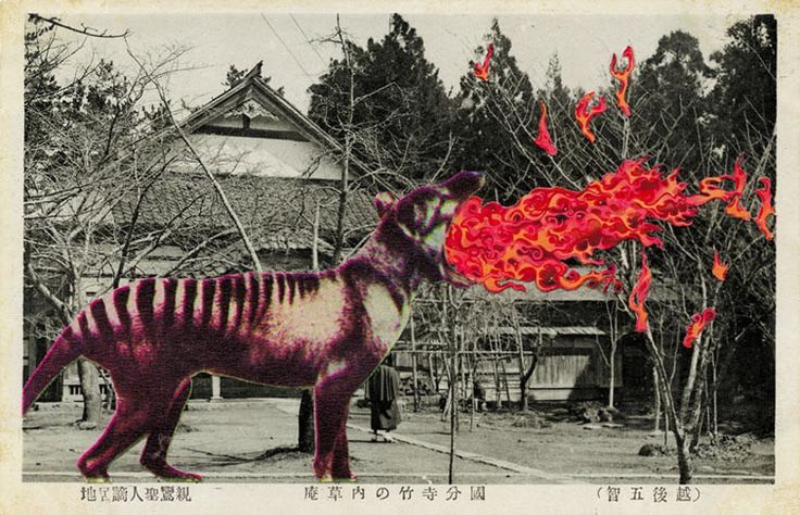 Jan Dziaczkowski, Untitled, from the series Japanese Monster Movies, 2010, collage