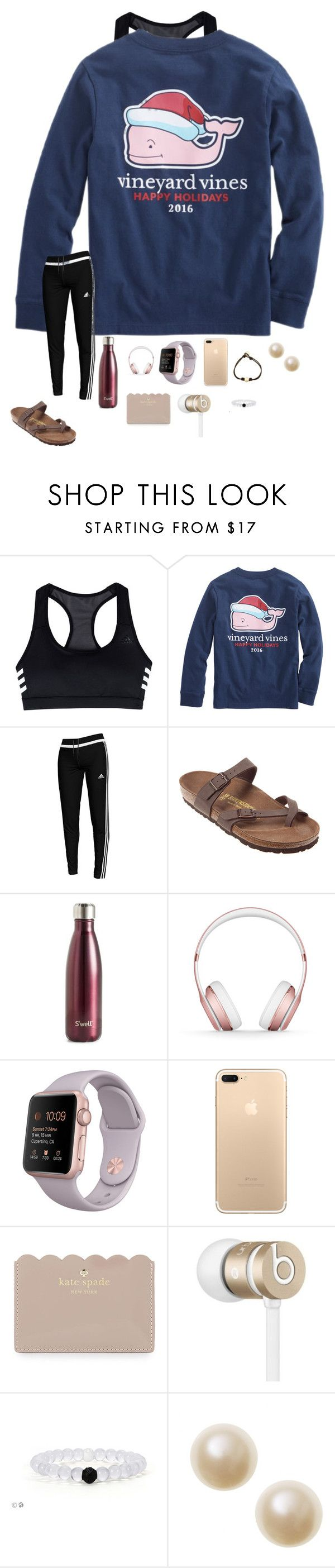 """Christmas shopping for family! (Day 1)"" by mackenzielacy814 ❤ liked on Polyvore featuring adidas, Vineyard Vines, Birkenstock, S'well, Beats by Dr. Dre, Apple, Kate Spade and hopeschristmascontest2016"