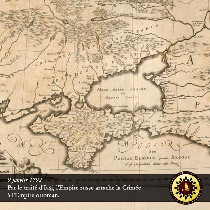 #Éphéméride : 9 janvier 1792, par le traité d'Iași, l'Empire russe arrache la #Crimée à l'Empire ottoman. - institut-iliade.com