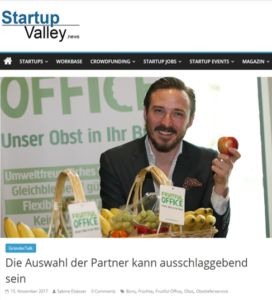 Fruitful Office: Interview in Startup Valley - http://obstinsbuero.de/fruitful-office-interview-in-startup-valley/