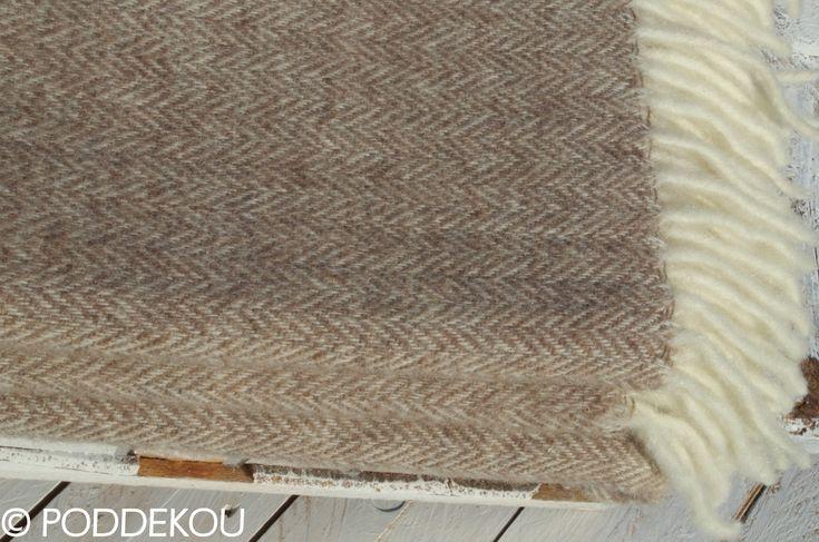 Merino - mohérová deka svetlohnedá   PODDEKOU