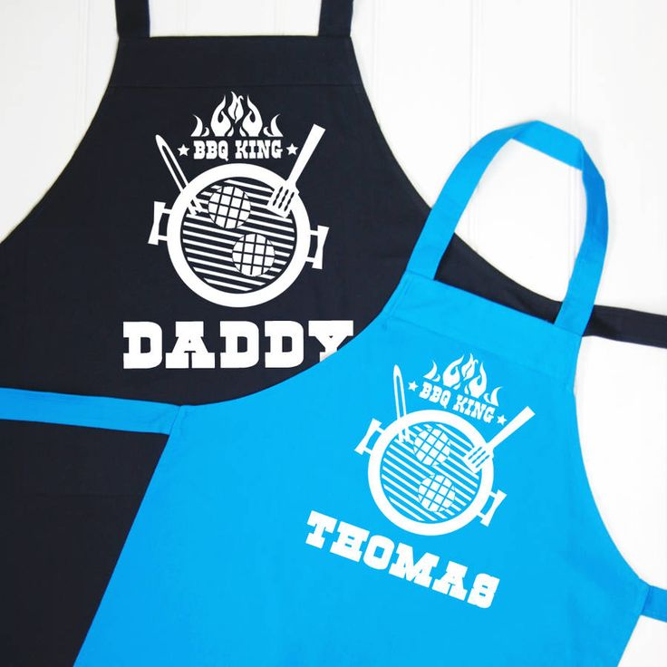 personalised bbq king apron set by simply colors | notonthehighstreet.com