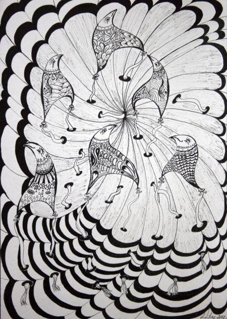 Uzemljenje / Earthing (zentangle style) by Renata Cekovic