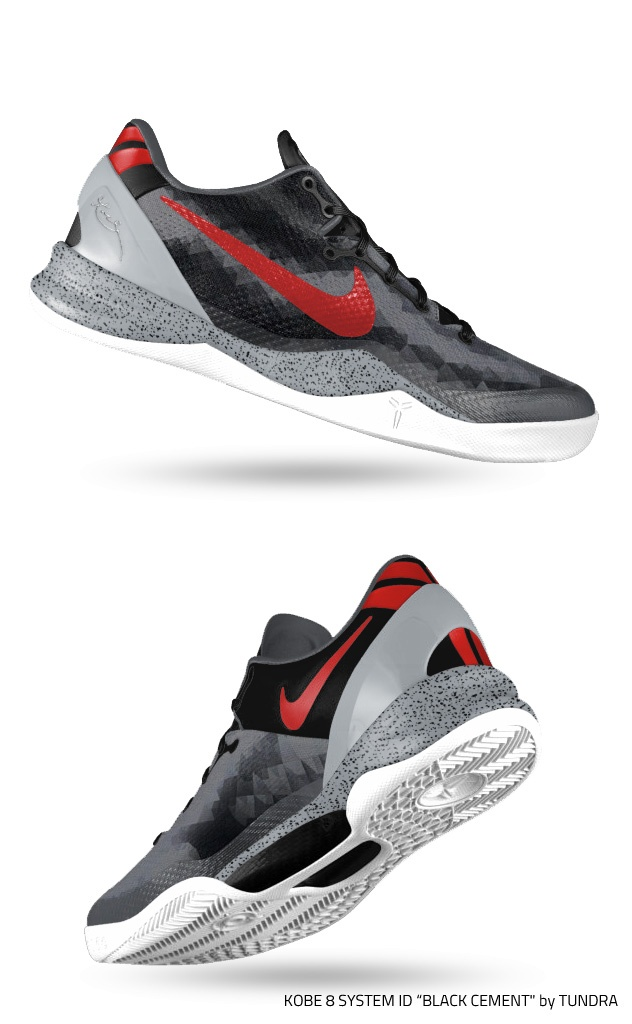 "... Nike Kobe 8 System iD ""Black Cement"" by Tundra"
