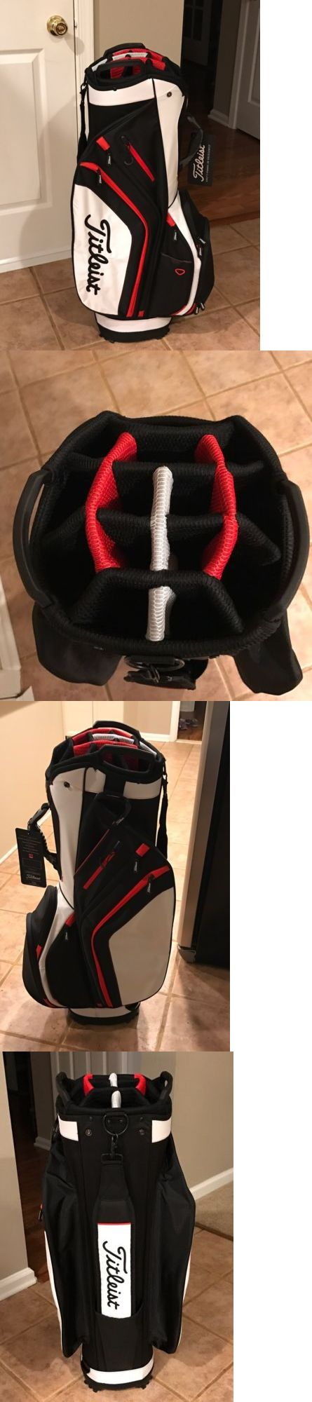 Golf Club Bags 30109: New Titleist Golf Light Weight Cart Bag / Black, White And Red -> BUY IT NOW ONLY: $119.99 on eBay!