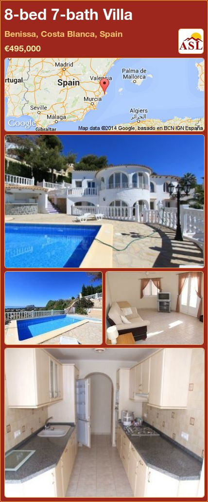 8-bed 7-bath Villa in Benissa, Costa Blanca, Spain ►€495,000 #PropertyForSaleInSpain