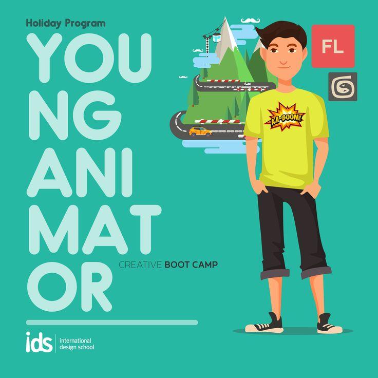 #HolidayProgram Young Animator (1-7 Juli 2015) Yuk bikin animasi bersama IDS di liburan ini. Info: http://bit.ly/LiburanKreatif_IDS  Daftar: 021-7980180 / 085697715636  #liburankreatif #holidayprogram #creativebootcamp #ids #animator   www.idseducation.com