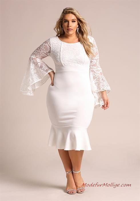 in stock 27001 e2e05 Kleid für Hochzeitsgäste; Glockenärmel Meerjungfrau ...