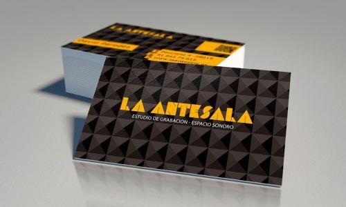 Diseño Tarjetas de Visita para el Estudio de Sonido La Antesala