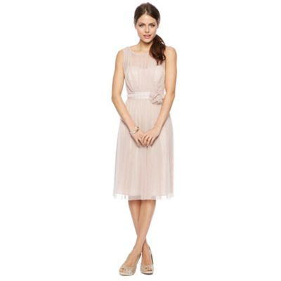Celine Mesh Bodice Midi Dress with Corsage at debenhams.com